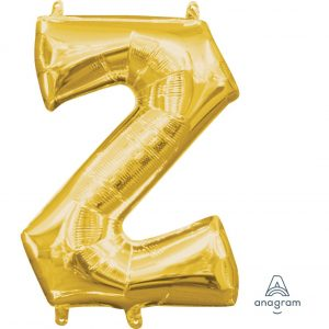 Z Gold Jumbo Foil Balloon