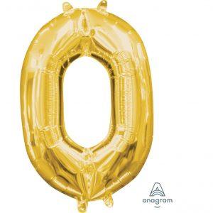 0 Gold Jumbo Foil Balloon