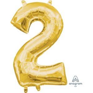 2 Gold Jumbo Foil Balloon