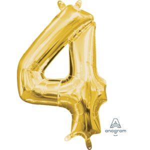4 Gold Jumbo Foil Balloon