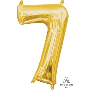 7 Gold Jumbo Foil Balloon