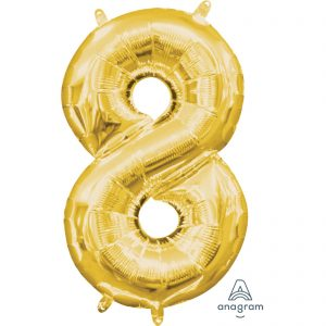 8 Gold Jumbo Foil Balloon