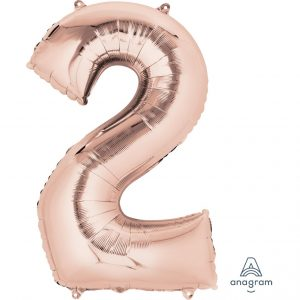 2 Rose Gold Jumbo Foil Balloon
