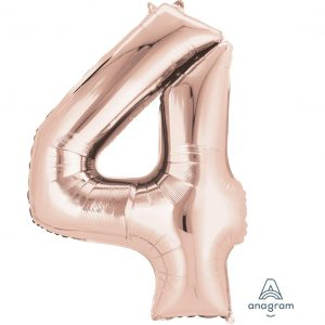 4 Rose Gold Jumbo Foil Balloon