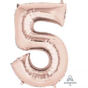 5 Rose Gold Jumbo Foil Balloon
