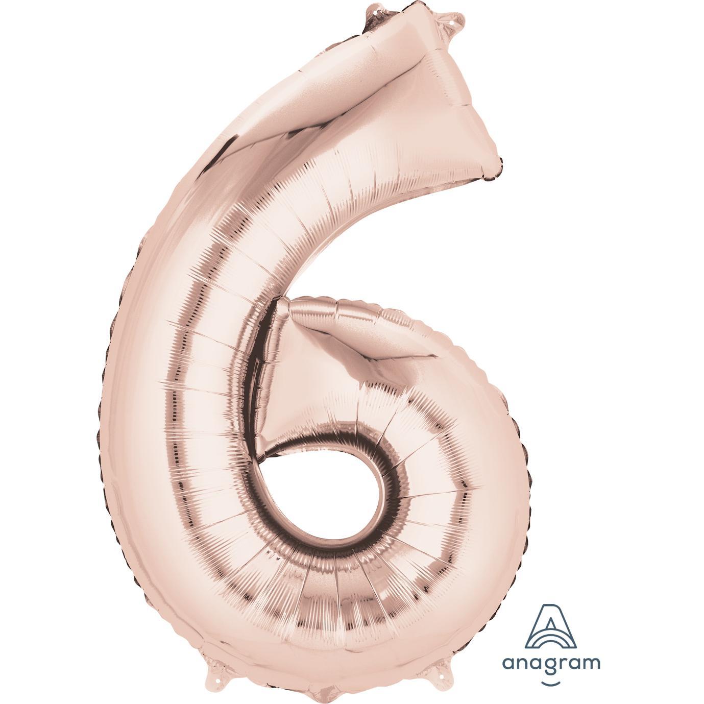 6 Rose Gold Jumbo Foil Balloon