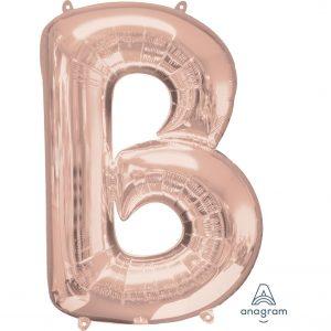 B Rose Gold Jumbo Foil Balloon