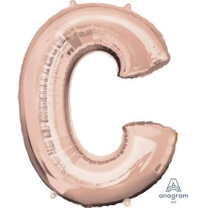 C Rose Gold Jumbo Foil Balloon