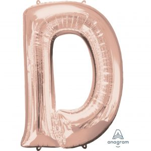 D Rose Gold Jumbo Foil Balloon