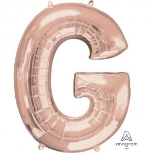 G Rose Gold Jumbo Foil Balloon