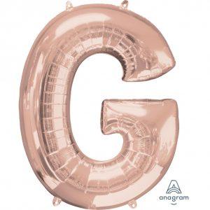 G Rose Gold Jumbo Foil Balloon
