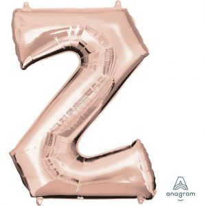 Z Rose Gold Jumbo Foil Balloon