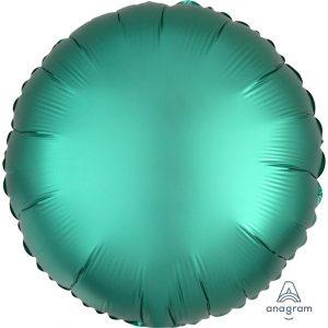 Jade Round Satin Luxe Foil Balloon