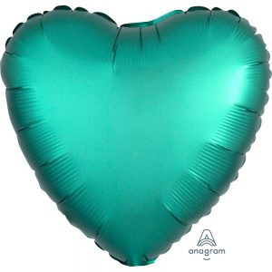 Jade Heart Satin Luxe Foil Balloon