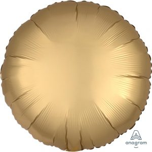 Gold Sateen Round Satin Luxe Foil Balloon