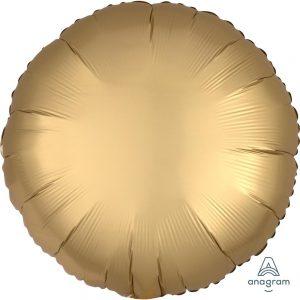 Gold Sateen Round Satin Luxe Foil Balloon