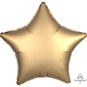Gold Sateen Star Satin Luxe Foil Balloon