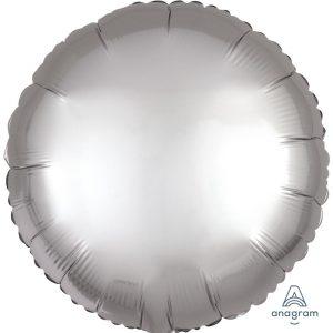 Platinum Round Satin Luxe Foil Balloon