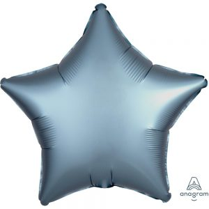 Steel Blue Star Satin Luxe Foil Balloon