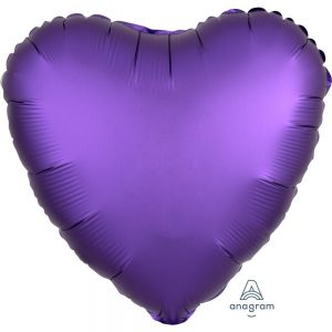 Purple Royale Heart Satin Luxe Foil Balloon