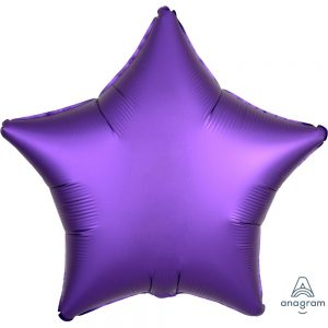 Purple Royale Star Satin Luxe Foil Balloon
