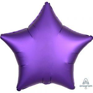 Purple Royale Star Satin Luxe Foil Balloon
