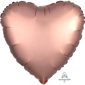 Rose Copper Heart Satin Luxe Foil Balloon
