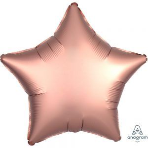 Rose Copper Star Satin Luxe Foil Balloon