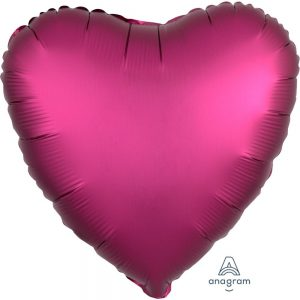 Pomegranate Heart Satin Luxe Foil Balloon