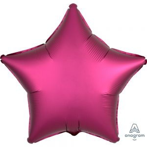 Pomegranate Star Satin Luxe Foil Balloon