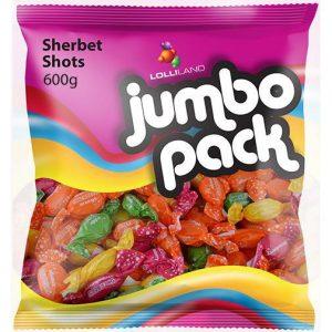 Sherbet Shots Jumbo Pack - 600g