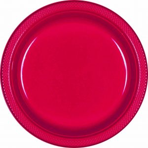 Red Plastic Banquet Plates