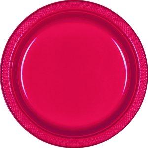 Red Plastic Dinner Plates