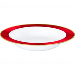 Premium Red and White Bowls