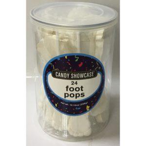 White Foot Lollipops - 24 Pack