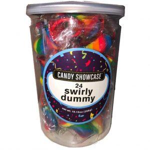 Rainbow Dummy Lollipops - 24 Pack