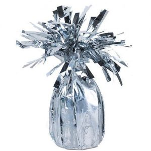 Foil silver Jumbo Balloon Weight