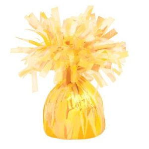 Balloon Weights Foil Yellow