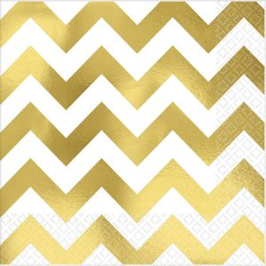 Premium Chevron Gold Hot-Stamped Lunch Napkin