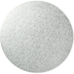 "3"" Silver Round Cardboard Cake Boards - Bulk 10 Pack"