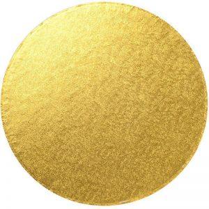 "12"" Gold Round Cardboard Cake Boards - Bulk 10 Pack"