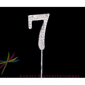 4.5cm Number 7 Diamante Cake Topper