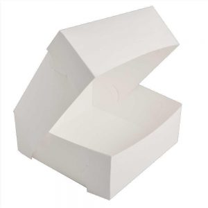 "4"" White Cake Box"