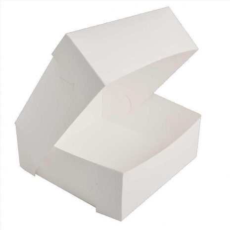 "8"" White Cake Box - Bulk 10 Pack"