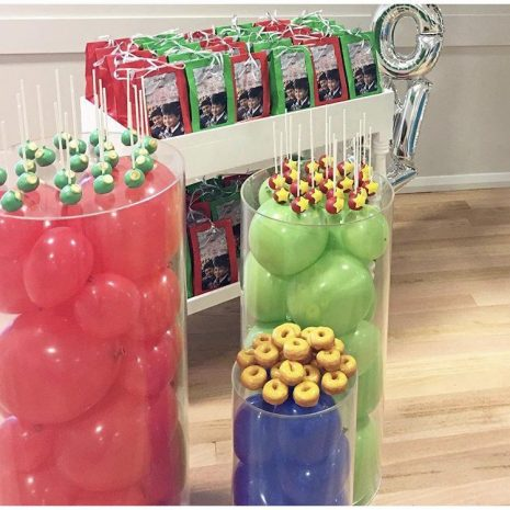 Clear Acrylic Plinths- Filled with balloons - Large