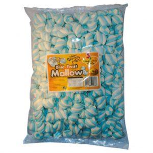 Blue Marshmallow Twists - Bulk 1kg