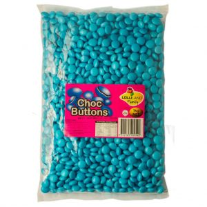 Blue Chocolate Buttons - Bulk 1kg