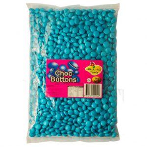 Blue Chocolate Buttons - Bulk 1kg