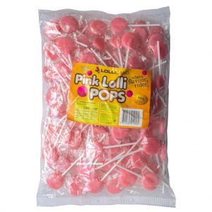 Pink Flat Lollipops - Bulk 1kg
