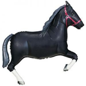 "42"" Black Horse Supershape Foil Balloon"